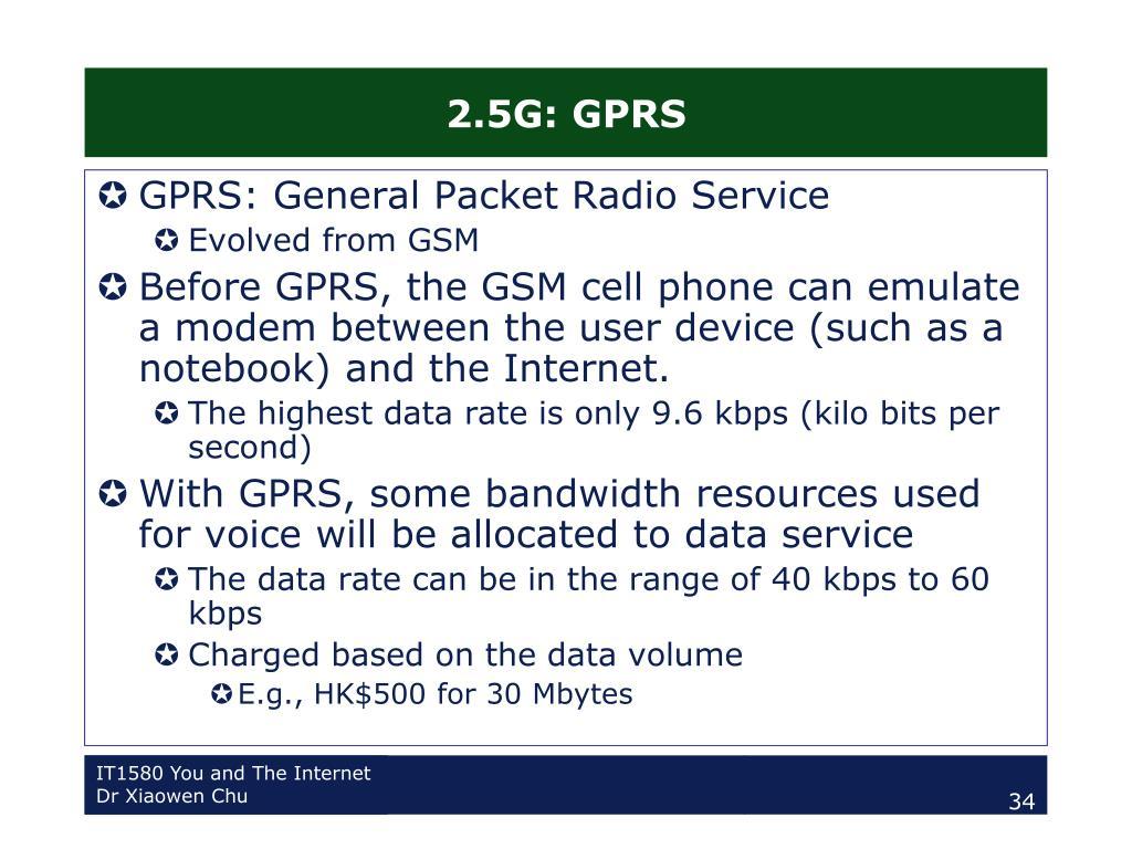 2.5G: GPRS