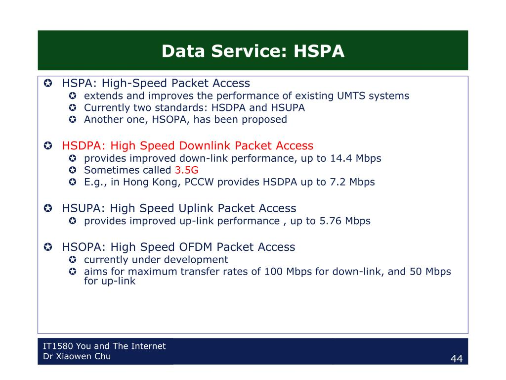 Data Service: HSPA