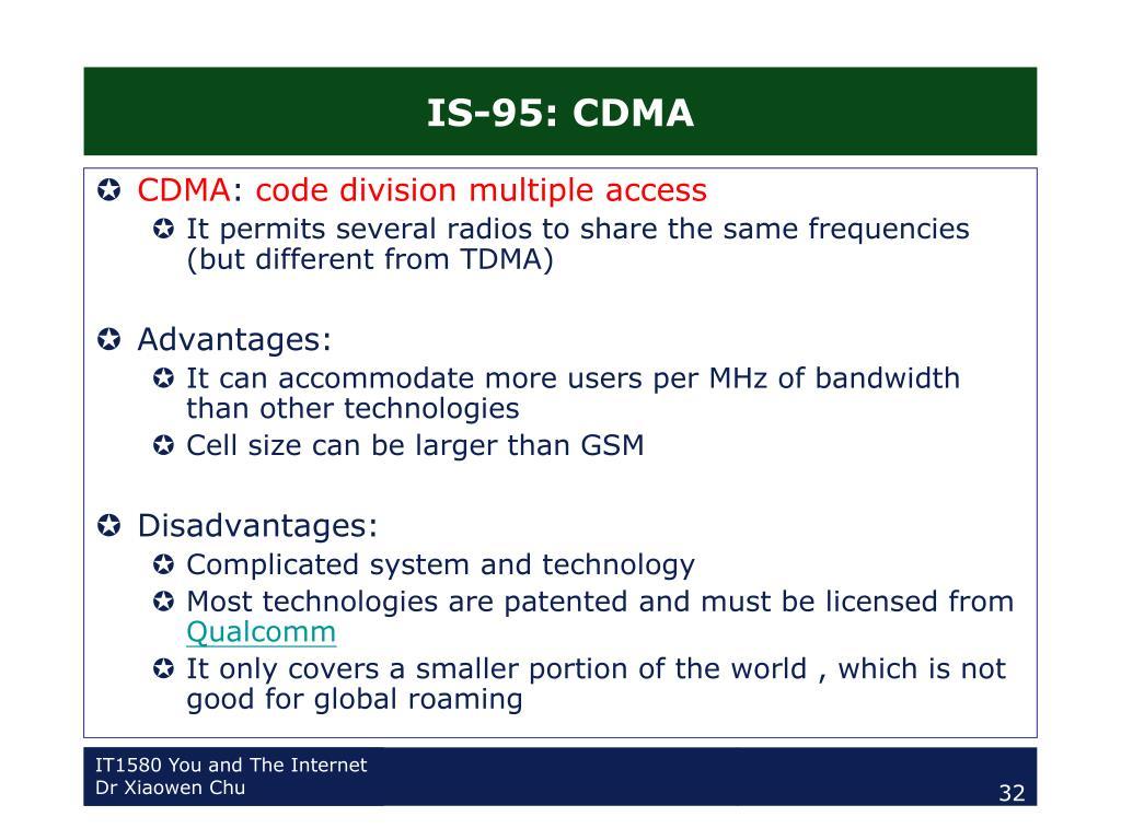 IS-95: CDMA