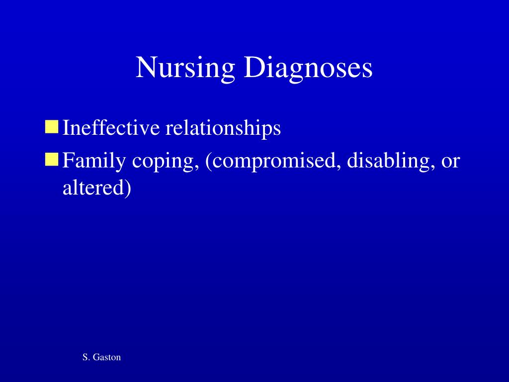 family nursing diagnoses Household, separation, overweight - family nursing diagnosis and intervention.