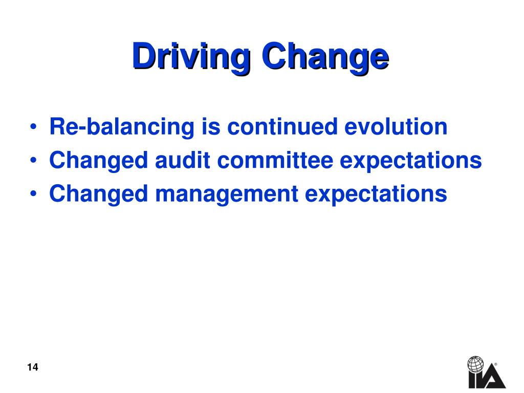 Re-balancing is continued evolution
