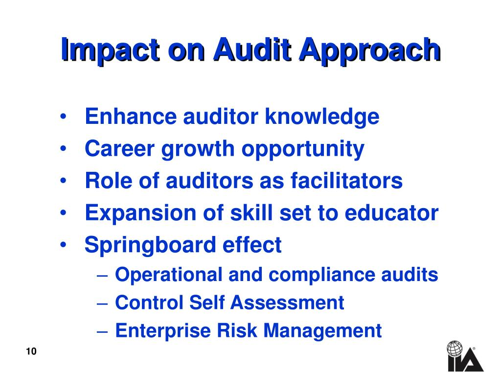 Impact on Audit Approach