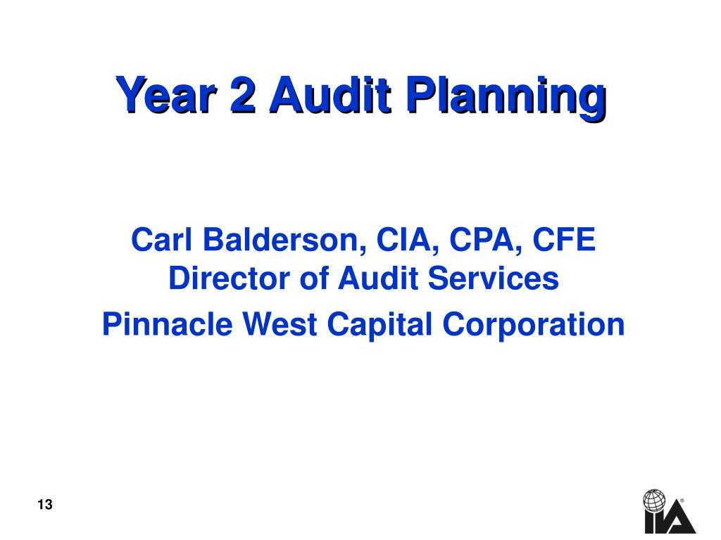 Year 2 Audit Planning