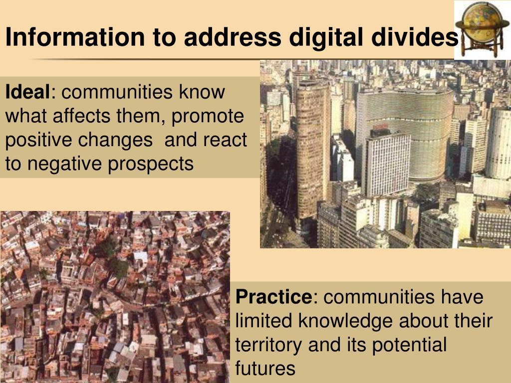 Information to address digital divides