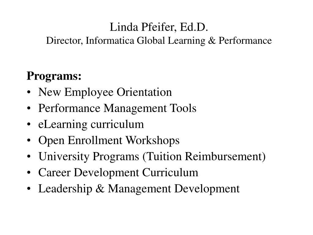 Linda Pfeifer, Ed.D.