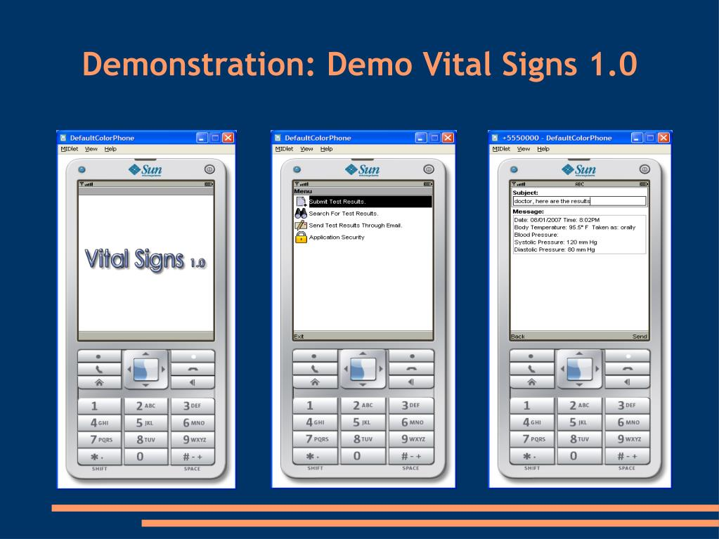 Demonstration: Demo Vital Signs 1.0