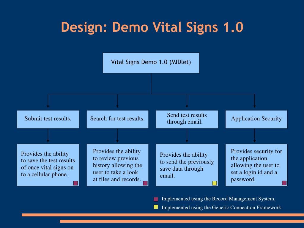 Design: Demo Vital Signs 1.0