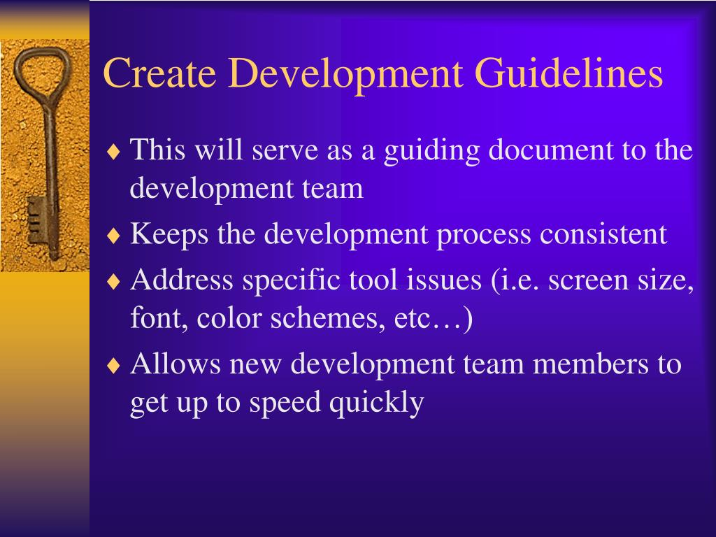 Create Development Guidelines