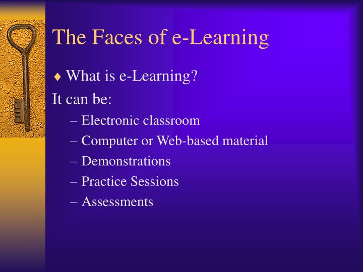 The faces of e learning