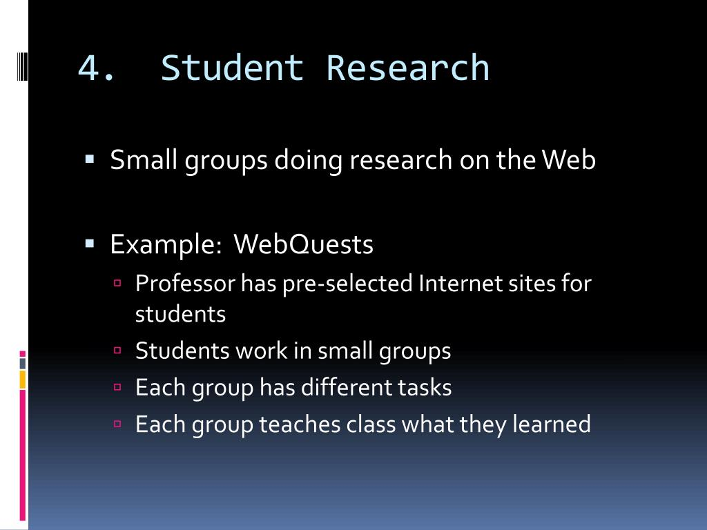 4.  Student Research