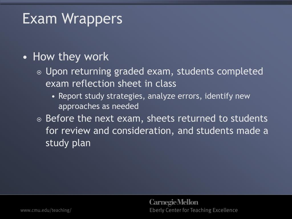 Exam Wrappers