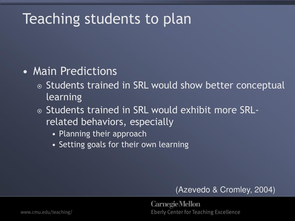 Teaching students to plan