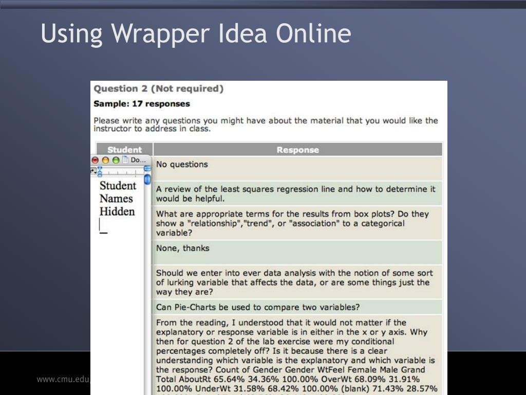 Using Wrapper Idea Online