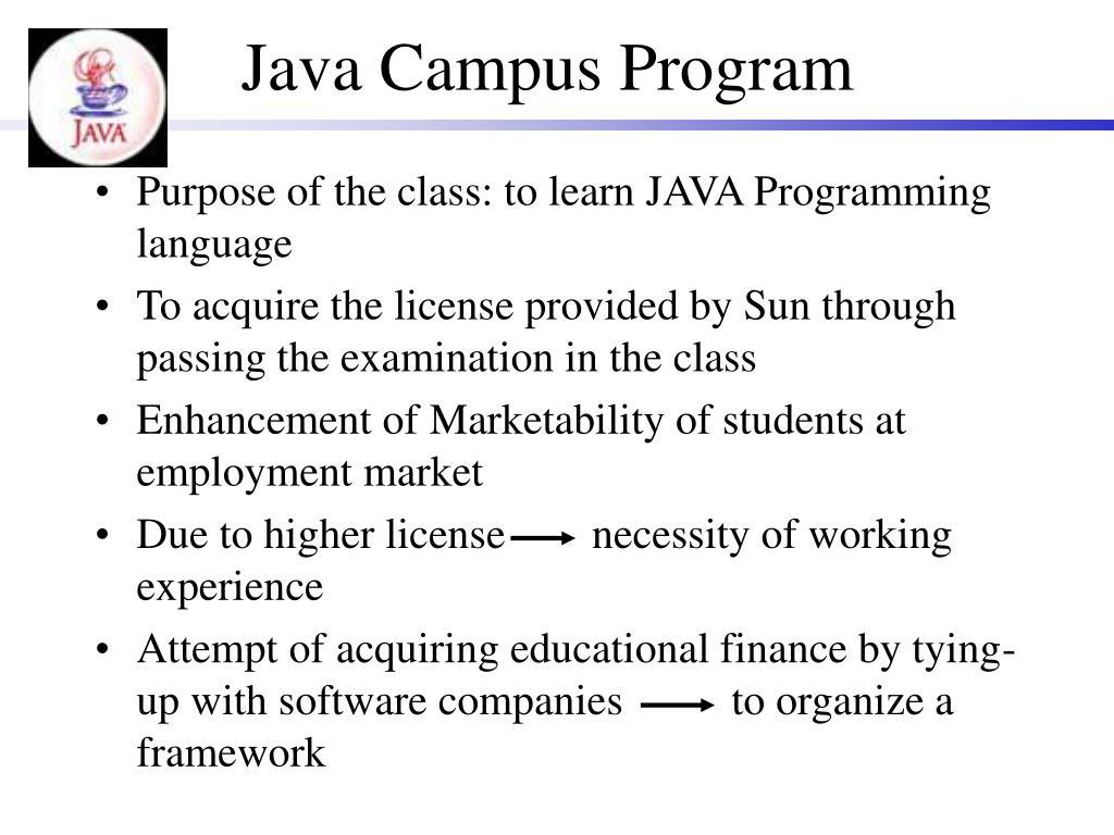 Java Campus Program
