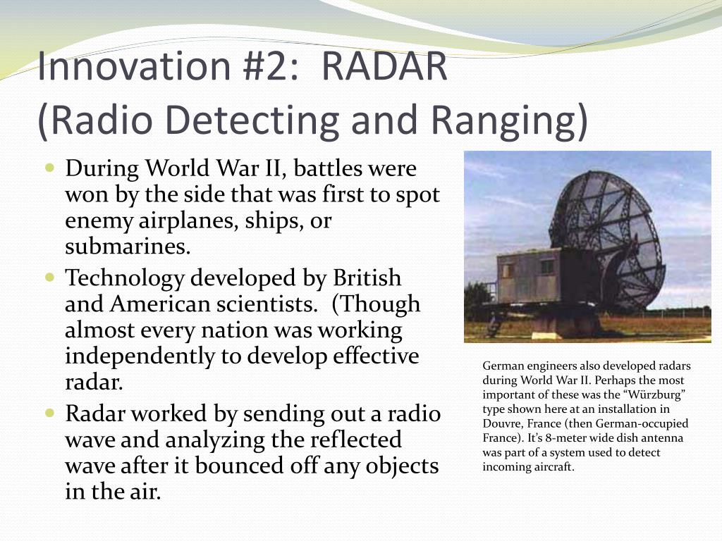 Innovation #2:  RADAR