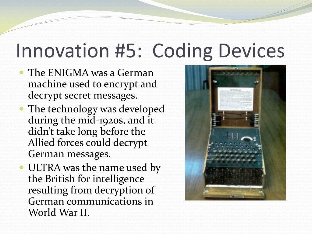 Innovation #5:  Coding Devices