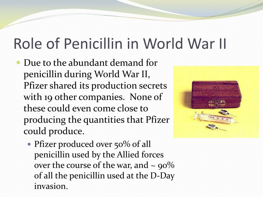 Role of Penicillin in World War II