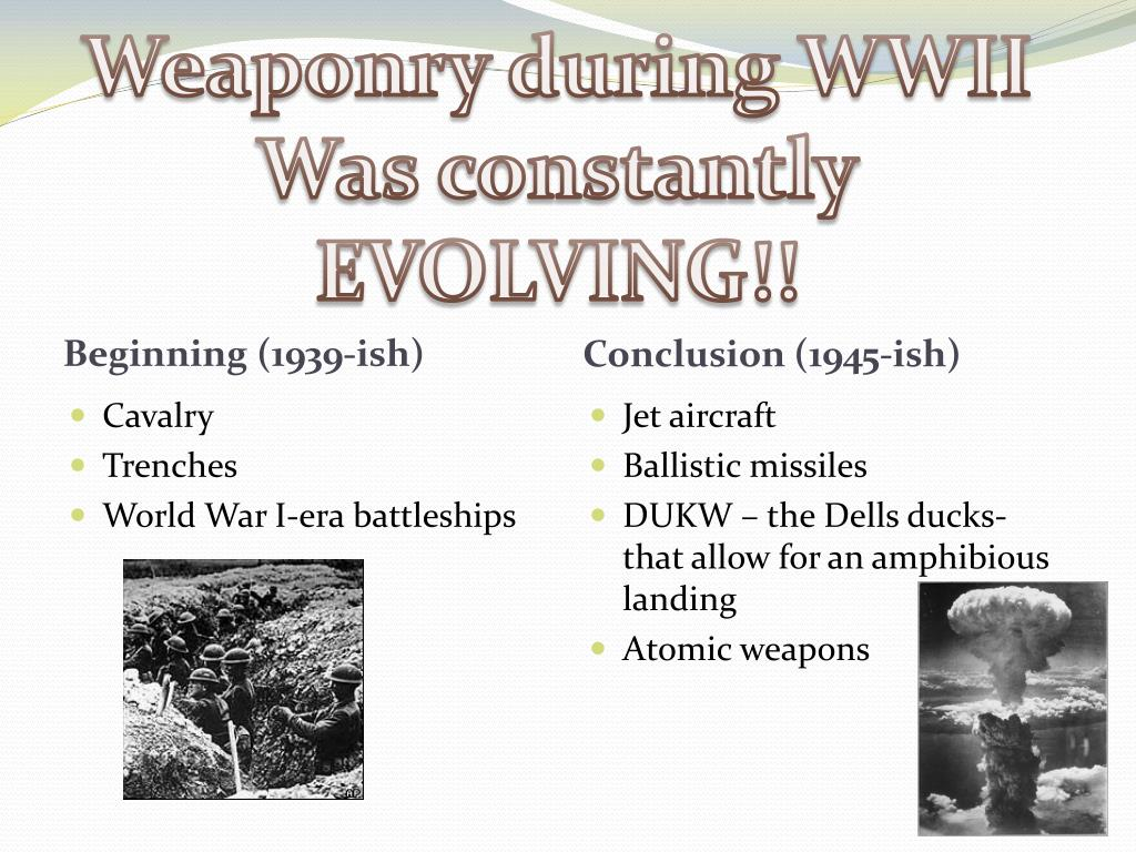Weaponry during WWII