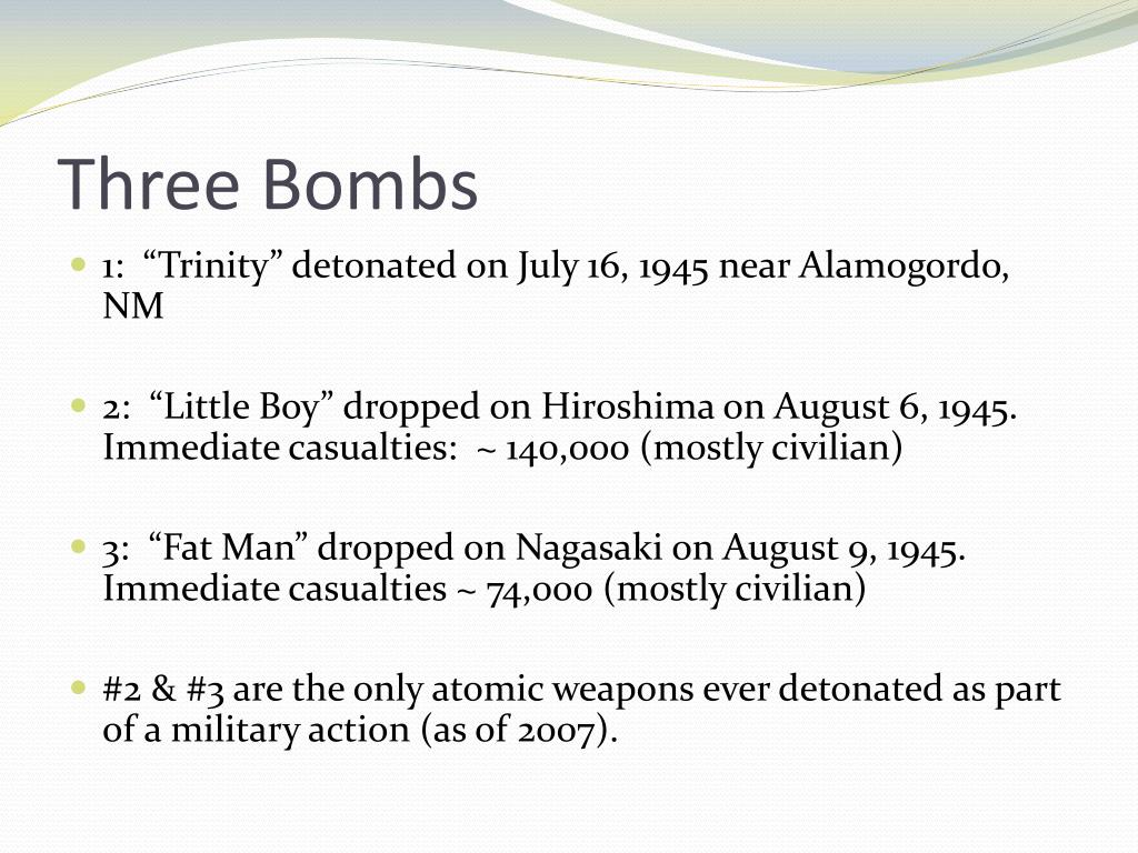 Three Bombs
