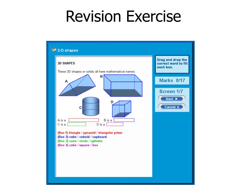 Revision Exercise