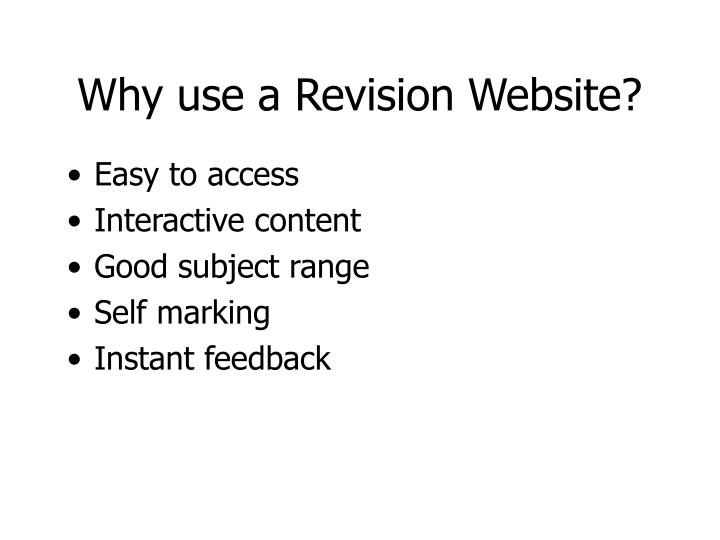 Why use a revision website