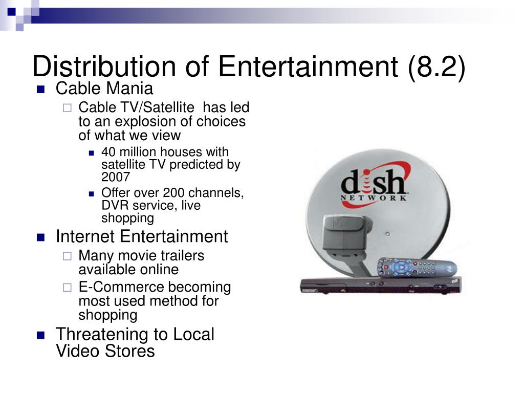 Distribution of Entertainment (8.2)
