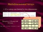 multidimensional arrays32