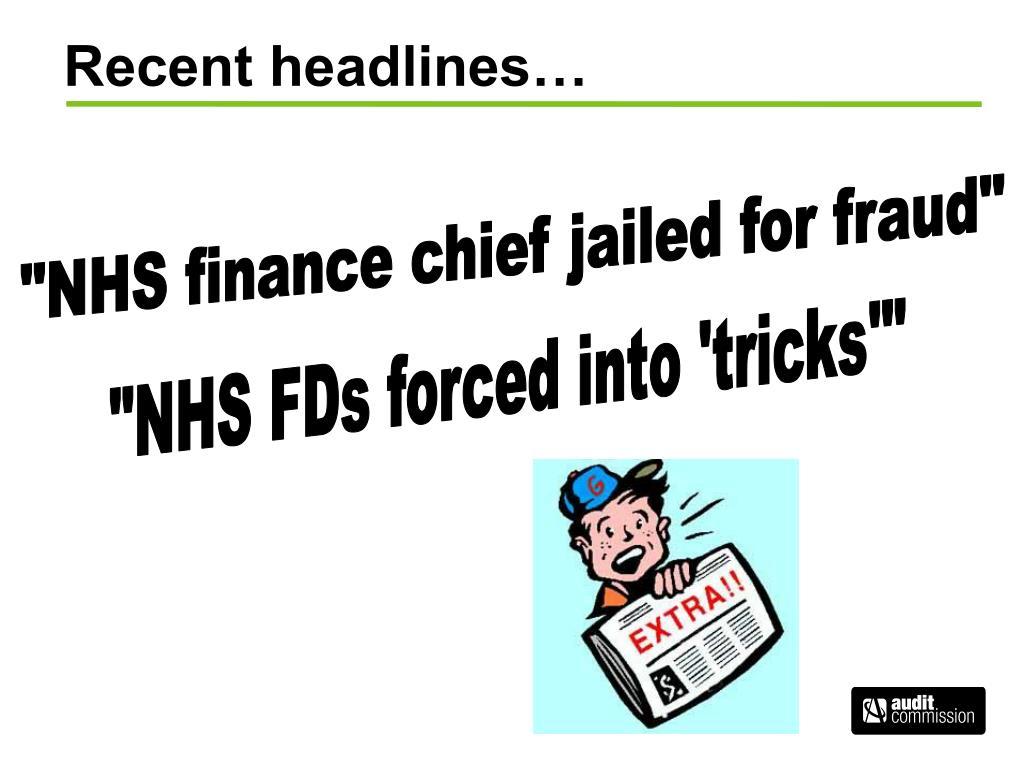 Recent headlines…