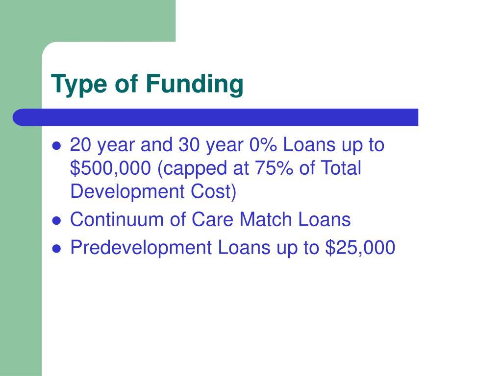 Type of Funding