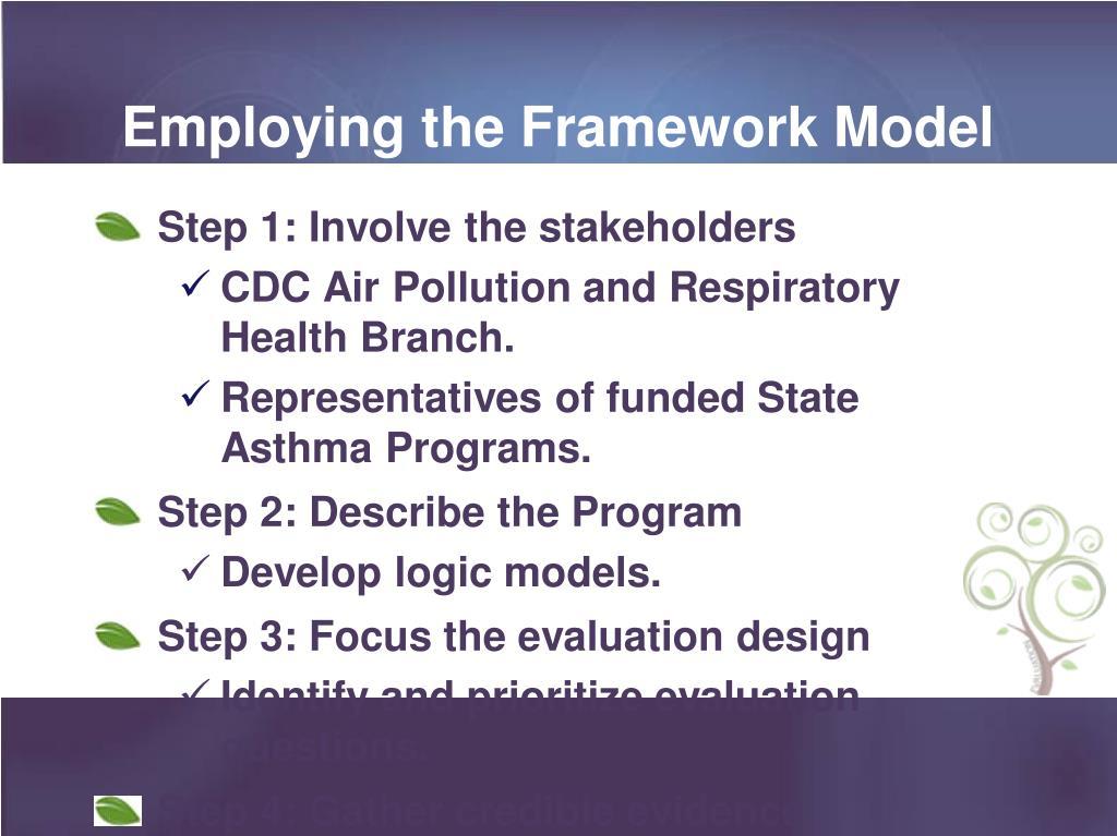 Employing the Framework Model