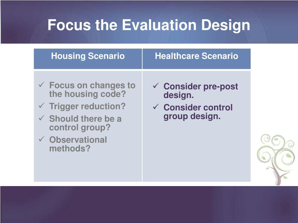 Focus the Evaluation Design