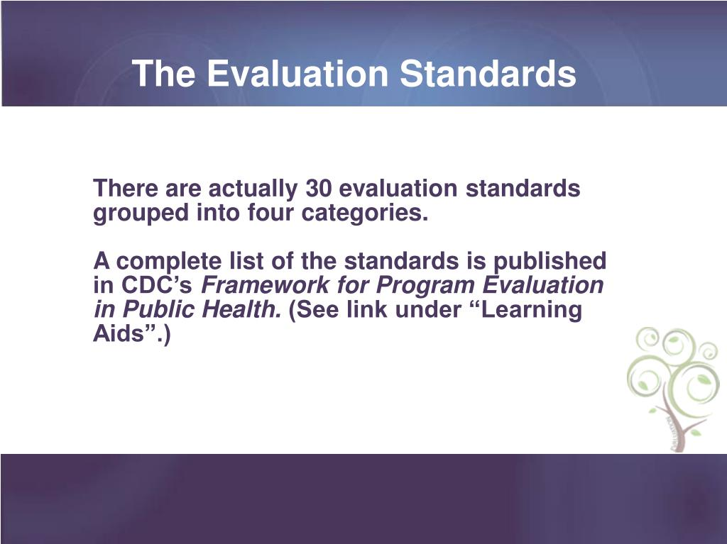 The Evaluation Standards
