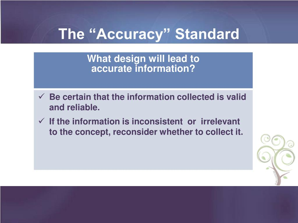 "The ""Accuracy"" Standard"