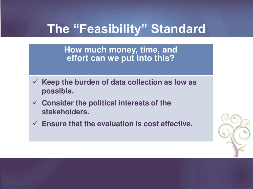 "The ""Feasibility"" Standard"