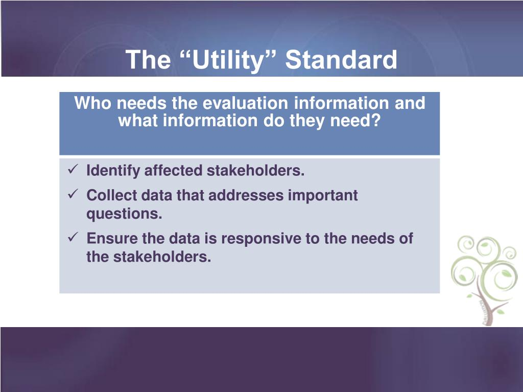 "The ""Utility"" Standard"