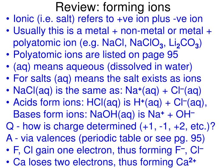 Review forming ions l.jpg