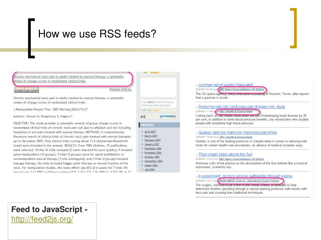 How we use RSS feeds?