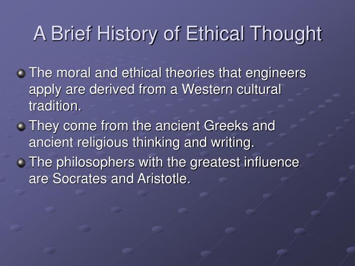A brief history of ethical thought