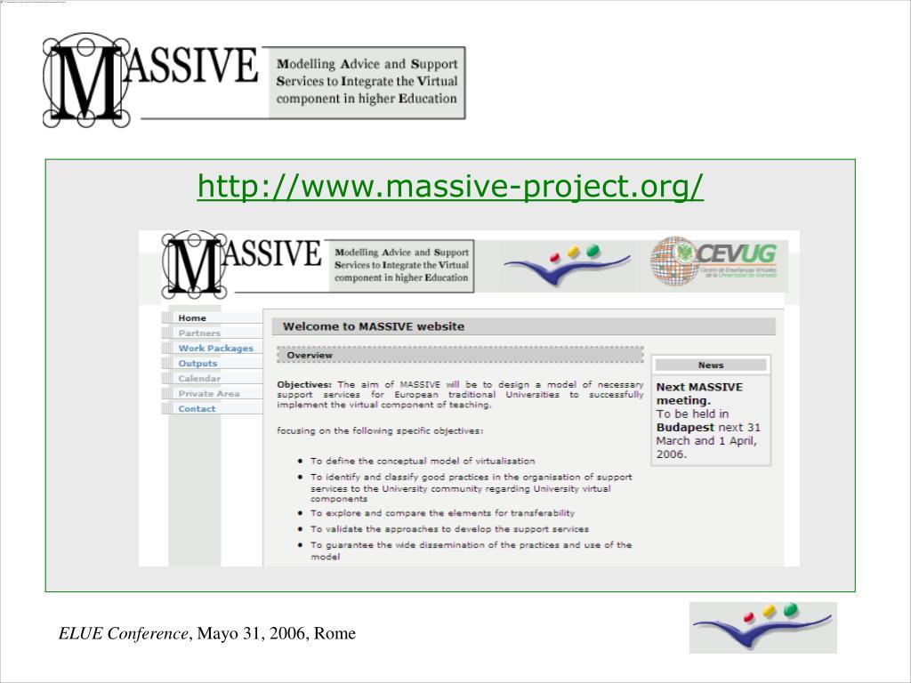 http://www.massive-project.org/