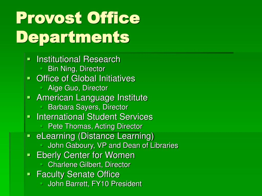Provost Office