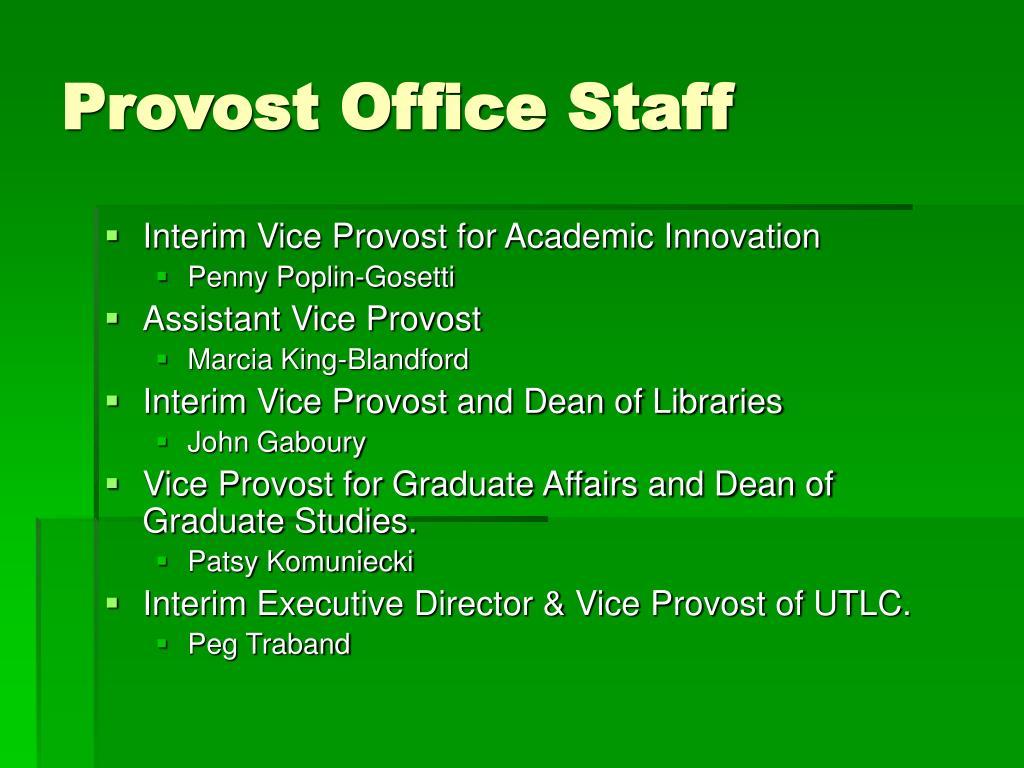 Provost Office Staff