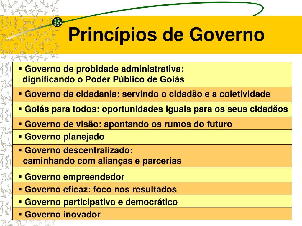 Princípios de Governo