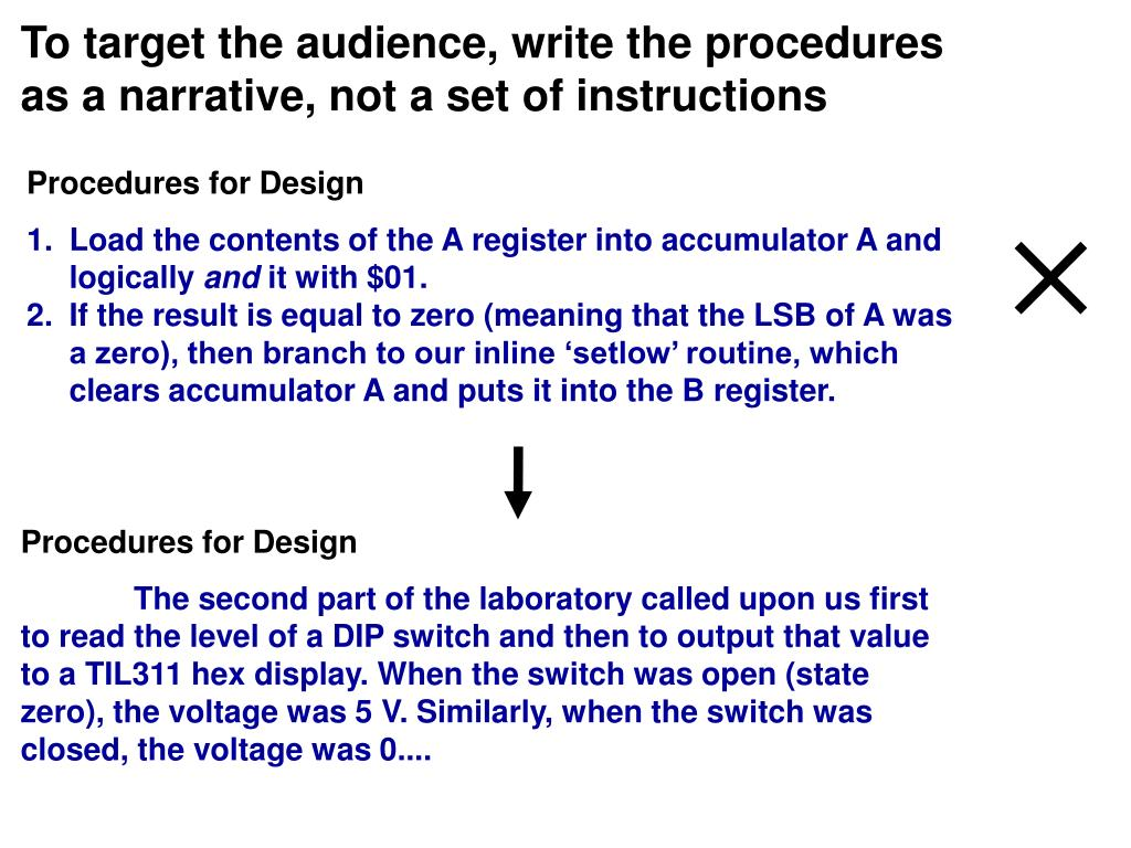 Procedures for Design