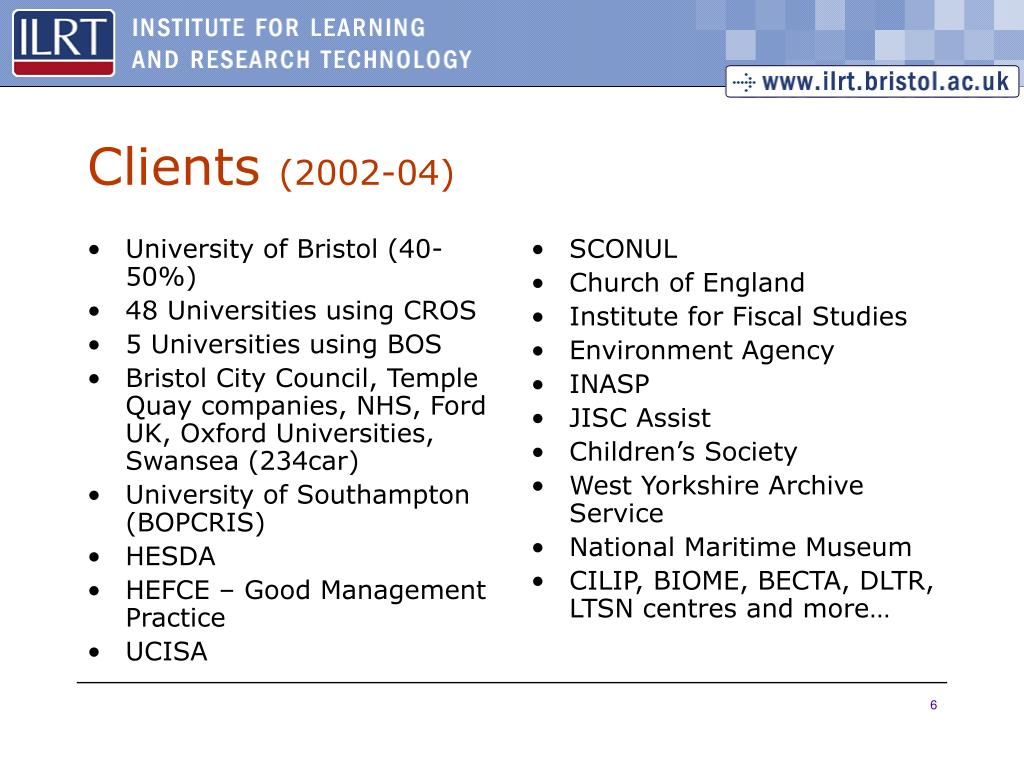University of Bristol (40-50%)