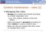 content maintenance roles 2