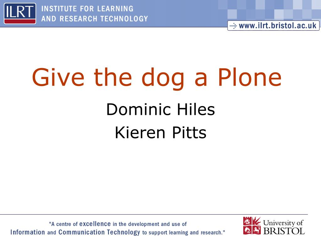 Give the dog a Plone