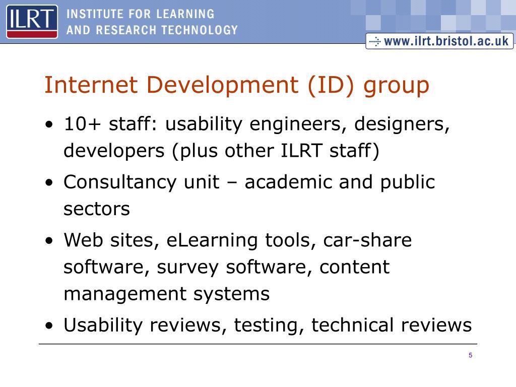 Internet Development (ID) group