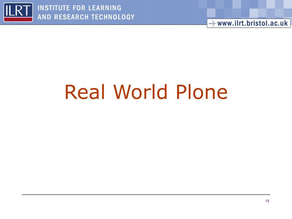Real World Plone