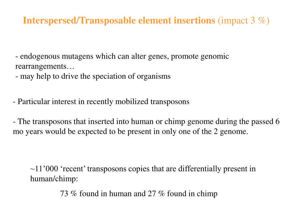 Interspersed/Transposable element insertions