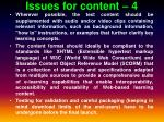 issues for content 4